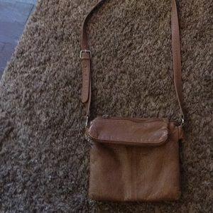 Fake leather Liz Claiborne cross body purse